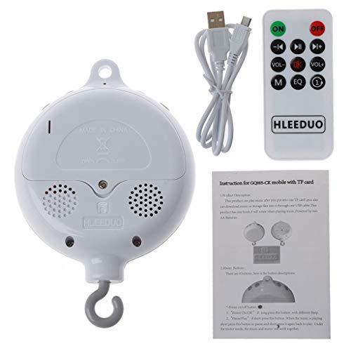 Yanhonin Elektrische Baby Spieluhr, Baby Mobile Bett Bell Toy, Unterstützung TF-Karte Spieluhr Mit Fernbedienung