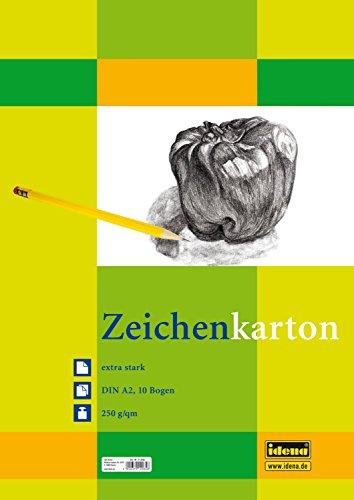 Idena 212065 Zeichenkarton extra stark, DIN A2, 250 g / m², 10 Bogen