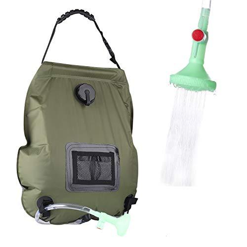 Lemcool Camping Solar Shower Bag Portable Solar...