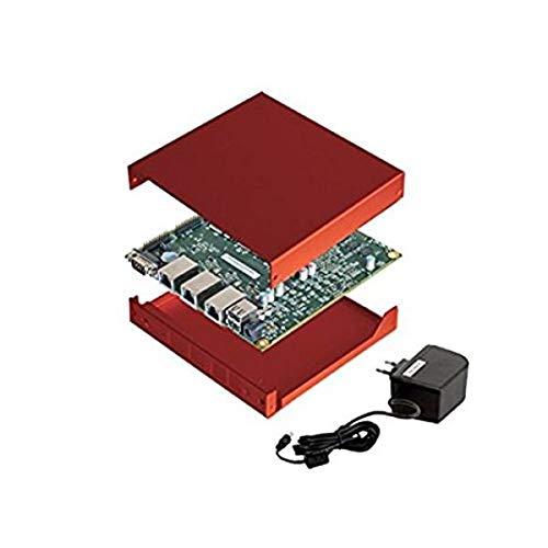 NRG Systems APU2E4 (ersetzt APU2D4) Bundle (Board, Netzteil, rotes Gehäuse, 16GB mSATA SSD)