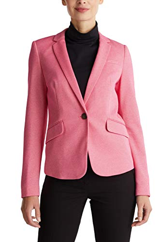 ESPRIT Collection Damen 020EO1G325 Lässiger Business-Blazer, Rosa (Rosa 660), 34
