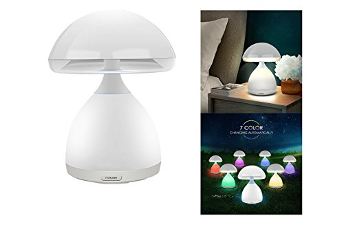 Lampe LED RGB A Pilz kabellos Farben Farbtherapie Nachttisch 7Farben hc-868