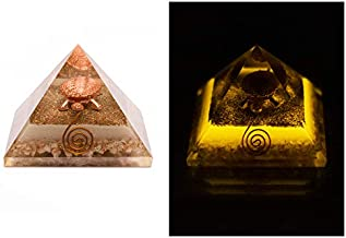 Divine Magic Orgone Wealth Pyramid Money Energy Glow Orgonite Healing Crystals and Stones Abundance Prosperity Gift