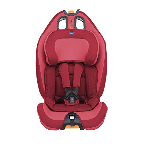 Chicco Gro-Up 123, Silla de coche grupo 1/2/3, rojo