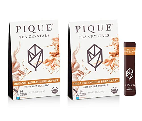Pique Tea Organic English Breakfast Black Tea Crystals - Energy, Healthy Digestion, Immune Support -...