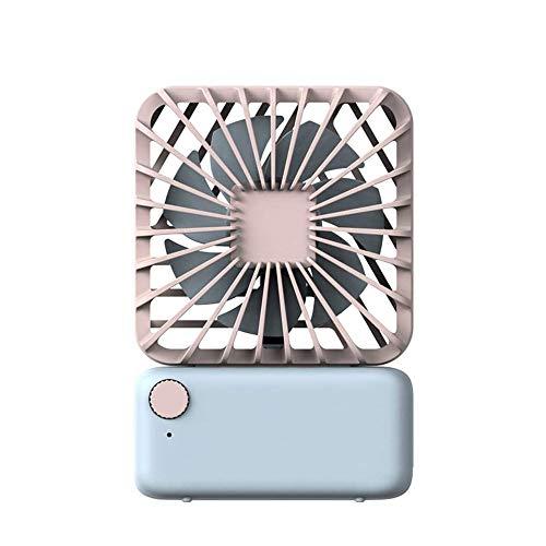 HUIXINLIANG Ventilador de Escritorio, Pequeño Ventilador de Mesa de Escritorio Personal, Operación silenciosa Mini Ventilador, Fan Operado por USB para la Oficina en casa (Color : Pink)
