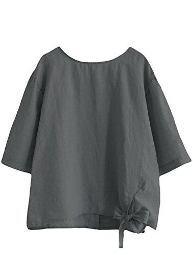 ftcayanz womens linen tunic tops