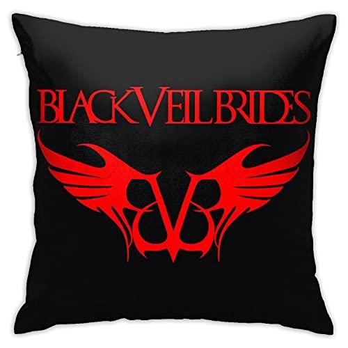 Black-Veil-Brides - Funda de cojín decorativa cuadrada para sofá, cama, silla, sofá, cama, sofá, funda de almohada lisa, 45,7 x 45,7 cm