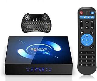 أندرويد 10.0 TV Box ، QPLOVE 4GB RAM 64GB ROM H616 64 bit Quad-Core Coretex-A53 Ultra HD 6K Smart TV Box يدعم واي فاي مزدو...