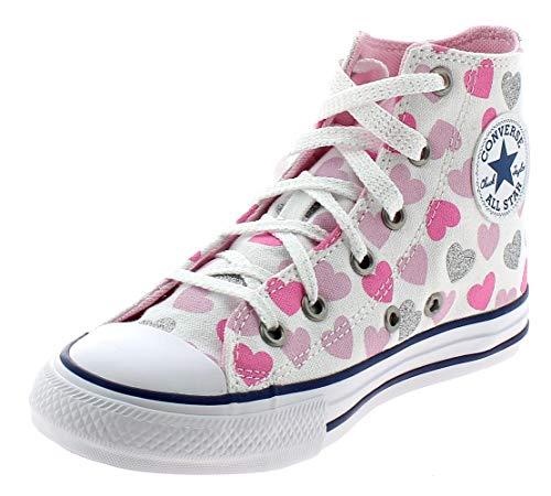 Converse CTAS Hi Chaussures DE Sport pour Fille Blanc...