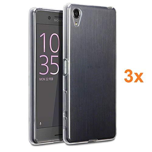 REY 3X Funda Carcasa Gel Transparente para Sony Xperia X, Ultra Fina 0,33mm, Silicona TPU de Alta Resistencia y Flexibilidad
