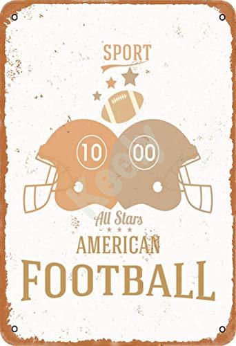 Sport-All-Stars-American-Football Blechschild Metall Plakat Warnschild Retro Eisenblech Plakette Jahrgang Poster Schlafzimmer Familie Wand Aluminium Kunstdekor