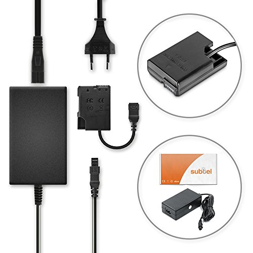 subtel® Qualitäts Netzteil kompatibel mit Nikon D5600 D5500 D5300 D5200 D5100 D3500 D3400 D3300 D3200 D3100 Df CoolPix P7800 P7700 P7100 P7000 EH-5 EH-5a EH-5b EH-5c + EP-5A Stromadapter Netzadapter