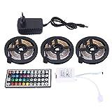 Didad Tira de Luces Led de 15 M con Controlador de 44 Teclas Tiras de Luz Rgb Flexibles Que Cambian de Color para la Decoración de Bricolaje de Fiesta Enchufe de la Eu