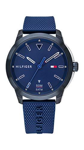 Tommy Hilfiger Reloj Analógico para Hombre de Cuarzo con Correa en Silicona 1791621
