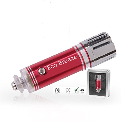 Eco Breeze Car Air Purifier and Ionizer, Air cleaner, Ionic air purifier, Car Air Freshener and Order Eliminator removers cigarettes Smoke, smell and bad odors - Blue