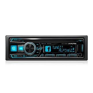 Alpine-CDE-185BT-Autoradio-Stereo-Bluetooth-AUX-Eingang-vorne