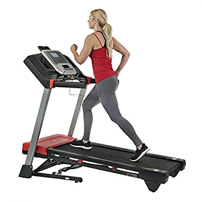 Sunny Health & Fitness Evo-Fit Incline Treadmill with Bluetooth and Dual Device Tablet Holders - SF-T7955