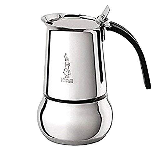 Bialetti Kitty – Italian Espresso Coffee Maker in Stainless Steel, 10 Tasses