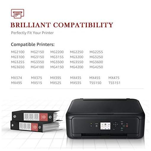Toner Kingdom PG-540XL CL-541XL Cartuchos de Tinta remanufacturados compatibles para Canon 540 541 para Canon MG4250… 5