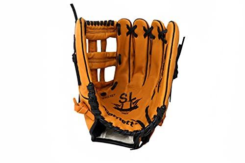 """SL-127 REG braun Baseball Handschuh, Schweinsleder, Outfield, Größe 12,7\"""" (inch) (für Rechtshänder, Wird an der linken Hand getragen)"""