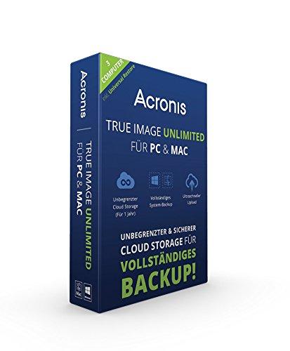 Acronis True Image Unlimited für PC & Mac - 3 Computer [import allemand]