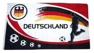 Fahne / Flagge Deutschland Fußball 12 Fan NEU 90 x 150 cm