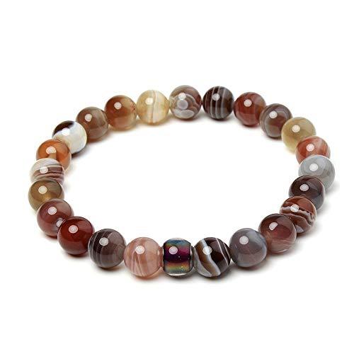 mayan Bracelet Women,Schmuck Frauen,Natürliches Achatarmband Aus Dem Persischen Golf, Thermochromes Perlenarmband, Größe 18,5 cm