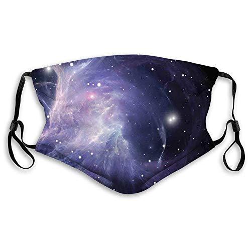Capuchas de carbón activado a prueba de viento,espacio exterior,nebulosa espacial en galaxia Movimientos de energía complejos Impresión inspiradora del tema del cosmos,púrpura azul marino