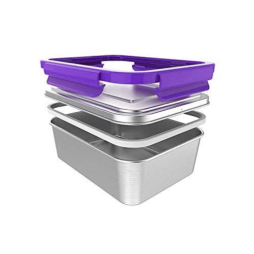 ECOtanka lunchBOX - 2,0l Edelstahl Lunchbox (Deckel, Dose & Dichtung) – Pure Edelstahldose, Umweltfreundlich