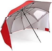 Sport-Brella Vented SPF 50+ Sun and Rain Canopy Umbrella for Beach and Sports Events (8-Foot) (Renewed)