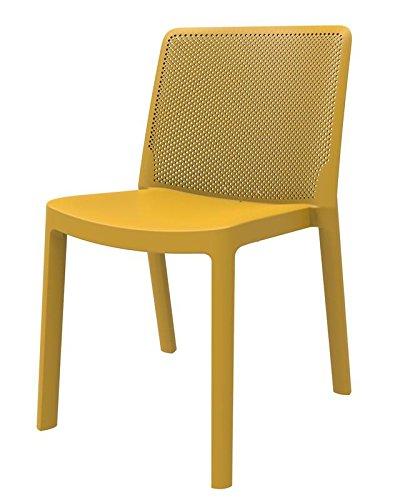 resol set de 4 sillas de diseño Fresh para interior, exterior, jardín - color toscano