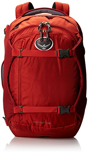 Newtion Osprey Porter Travel Backpack Bag, Hoodoo Red, 46-Liter