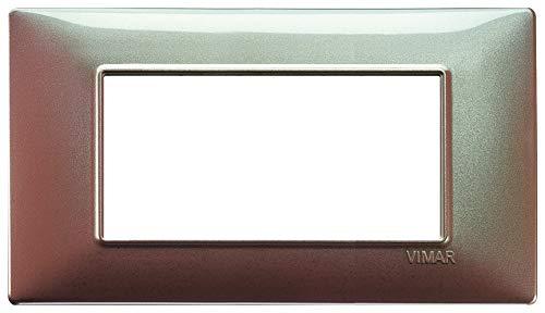 Vimar Serie piatto–Placca 4Modulo Tecnopolimero Marron
