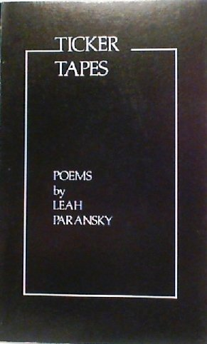 Ticker tapes: Poems