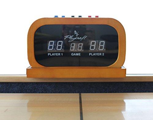 Playcraft Electronic Scorer for Home Recreation Shuffleboard Table - Honey