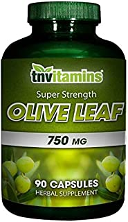 Sponsored Ad - Olive Leaf Extract Capsules (Standardized to 20% Oleuropein) | 750 Mg (90 Count) | Super Strength Formula |...