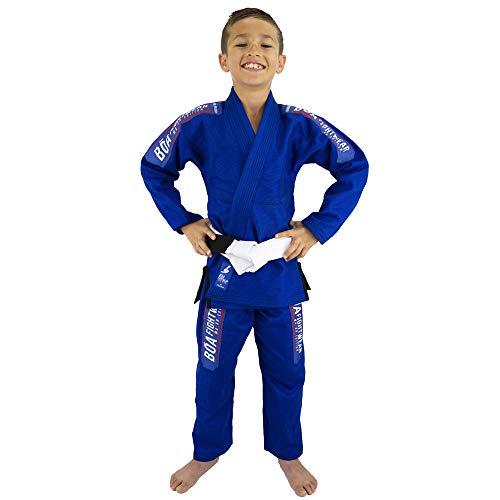 Bõa BJJ Gi Kimono Niño MA-8R - Azul - Azul, M5/150