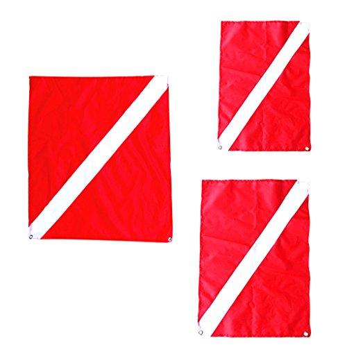 lahomia 3 Banderas de Buceo, Bandera Roja Y Blanca, Bandera de Buceo, Bandera de Señal Marítima