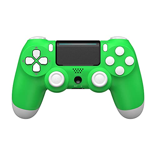 MOVONE Wireless Controller for PS4/Slim/Pro Console,with Dual Vibration/Stereo Headset Jack/Touch Pad/Six-axis Motion Control(Green)