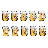 Amosfun 20 piezas de vasos de cerveza con forma de broche, broche luminoso, creativo, regalo de cumpleaños, Navidad, regalo de cumpleaños para amigos