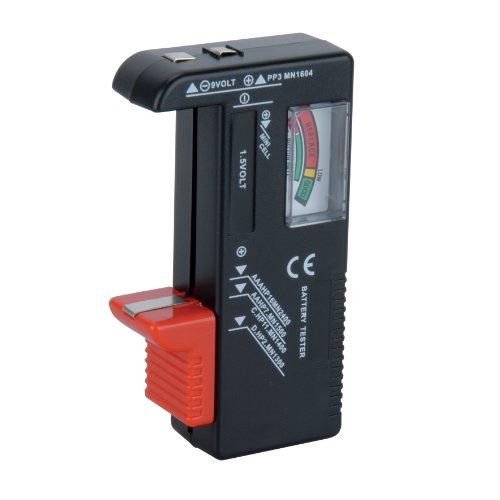 Unitec 46021 - Tester universale per batterie, 1,5 V/9 V