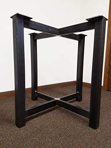 Metal Trestle Style Steel Table Base - Any Size and Color