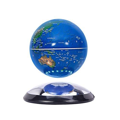 Lámpara magnética de levitación de globo 360 grados giratoria flotante mapa del mundo decoración del hogar Festival regalo de cumpleaños niños educación día de San Valentín, modelo 011911, C