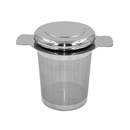 Lovemay Teefilter aus Edelstahl Teesieb für Losen Tee und Mulling mit Doppel-Griff und Abtropfschale/Deckel für Tasse/Teekanne/Tee-Töpfe