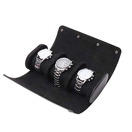 N / C Almacenamiento de Reloj de 3 Ranuras, Elegante Caja de Reloj Retro portátil, Organizador Mejorado con Deslizamiento hacia adentro, para Almacenamiento en el hogar, Viajes, Pantalla