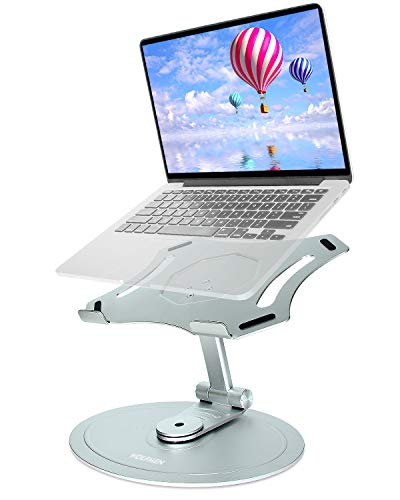 Wolfmen Laptop stand adjustable, foldable laptop holder, Multi-Angle adjustable and 360 rotating Notebook riser Compatible with Laptop/Notebook Computer/Tablet