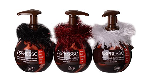 3er Set Vitalitys`s Espresso Tönungsbalsam 200 ml rot inkl.3 LUQX Zopfabbinder Fringes