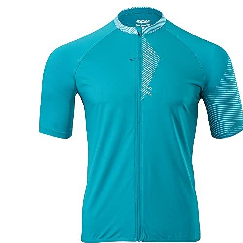 Silvini Turano Pro - Jersey con cremallera para bicicleta de montaña, color azul y turquesa