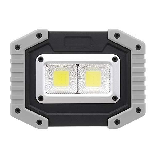 Select Zone 30 W USB LED COB Outdoor 3 Modos Luz de trabajo Camping Emergencia Linterna Faro Faro de búsqueda Luz de camping (Color gris + 2 LED cuadrados)